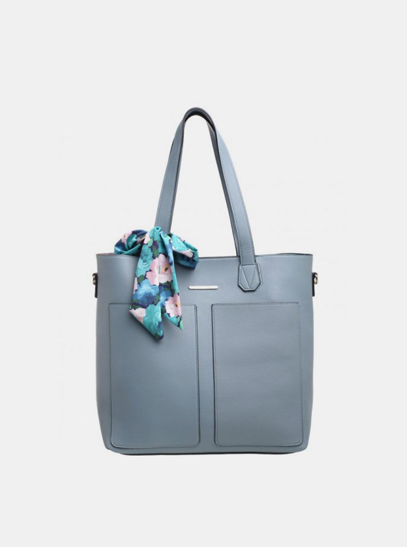 Bessie London borsa blu 3in1