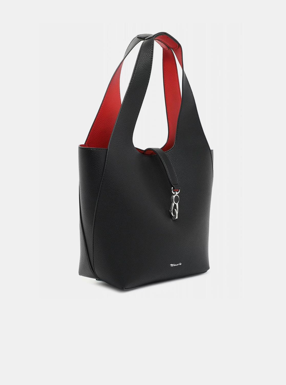 Tamaris nero reversibile shopper